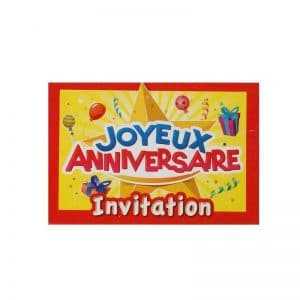 Invitations anniversaire