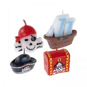 Bougies décor pirates