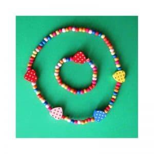 Collier et bracelet bois