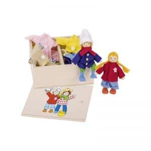 Petites poupées en bois Birte et Ben