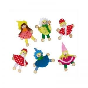 Mini poupées autocollantes par 6