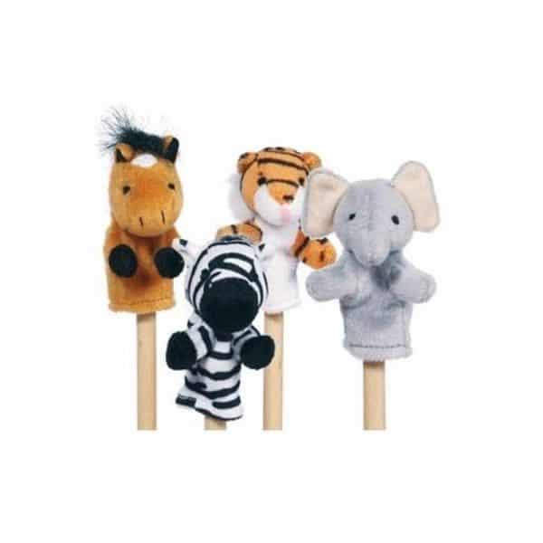 Lot de 4 marionnettes à doigts