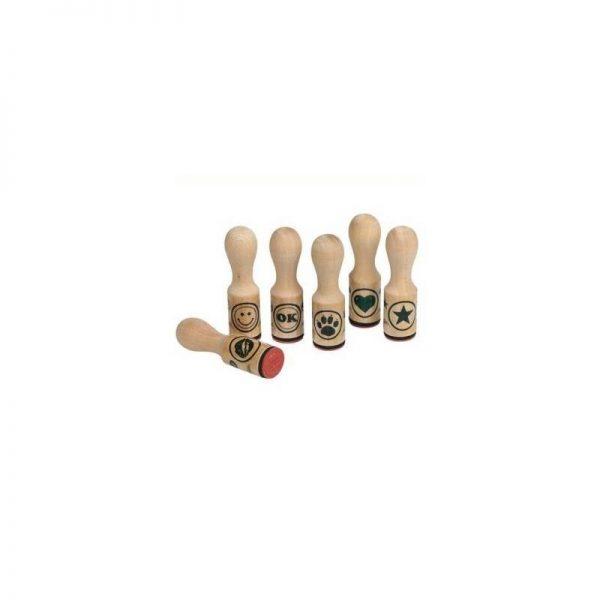 Tampons en bois série de 6