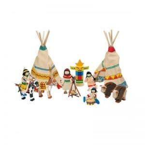 Village indien bois