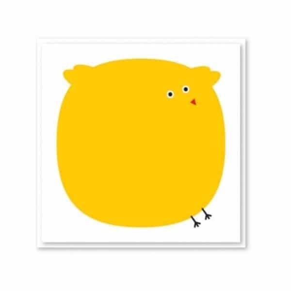 Carte patapouf jaune