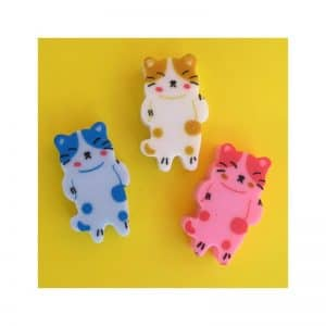 Gommes chats par 3