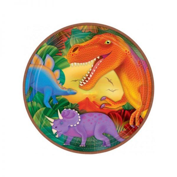 Assiettes dinosaures