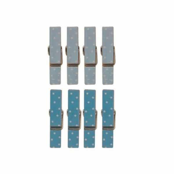 Pinces magnet bleues