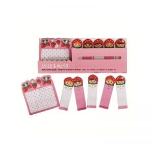 Mini-bloc notes fraises