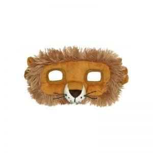 Masque lion en peluche