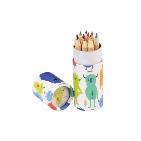 Crayons monstres rigolos