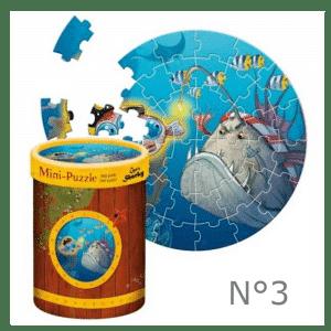 série de mini puzzle pirate