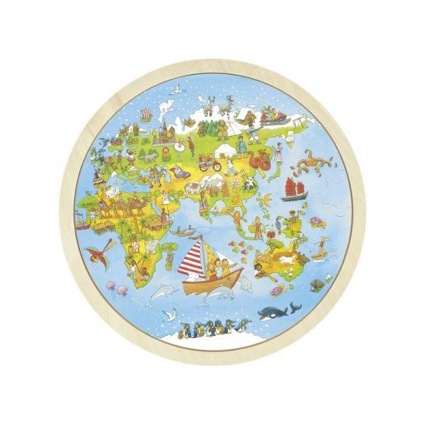 Puzzle tour du monde