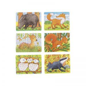 Mini puzzle animaux de la forêt