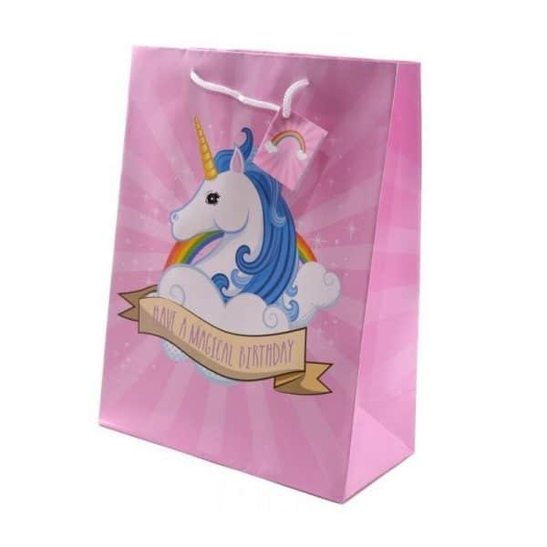 Sac cadeau anniversaire licorne