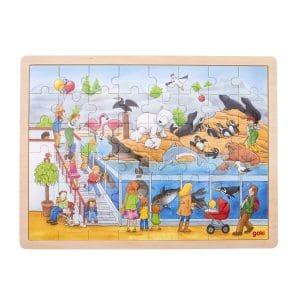 puzzle visite au zoo