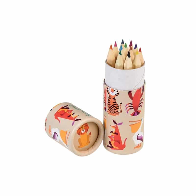 crayons de couleur jungle