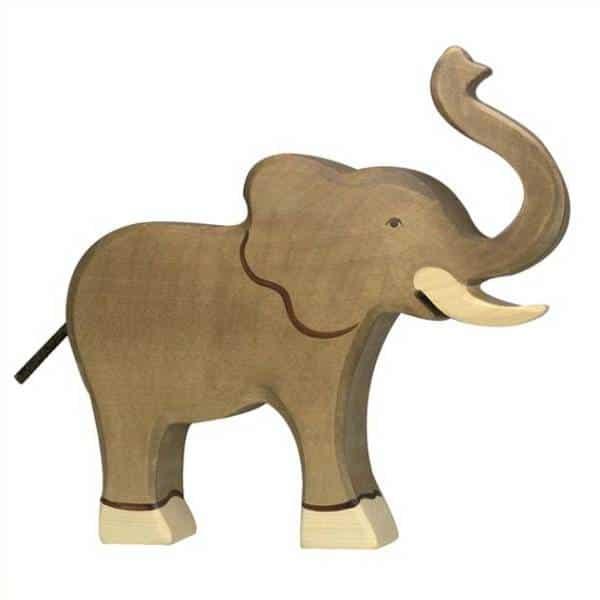 éléphant figurine en bois