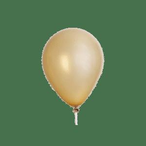 ballon chrome gold